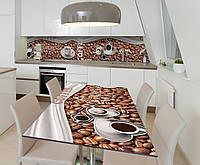 Наклейка 3Д виниловая на стол Zatarga «Эспрессо» 650х1200 мм для домов, квартир, столов, кофейн, кафе