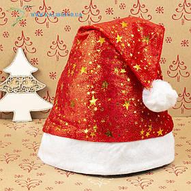 Новорічна шапка Діда Мороза, новорічний ковпак ГО-70