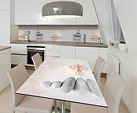 Наклейка 3Д виниловая на стол Zatarga «Серые камни Пирамиды» 650х1200 мм для домов, квартир, столов, , фото 1