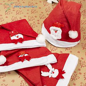 Новорічна шапка Діда Мороза, новорічний ковпак ГО-73