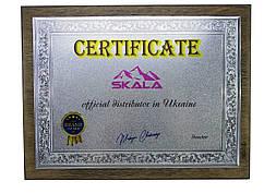 Сертифікат на дереві, на металі, дерев'яна основа