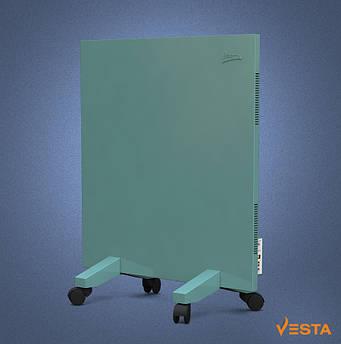 Обігрівач інфрачервоний VESTA 500 Вт з терморегулятором і ніжками, металева панель 60х60см зелена
