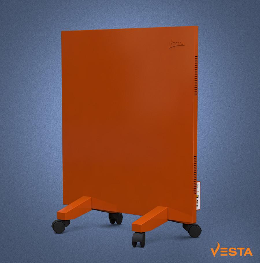 Обогреватель инфракрасный VESTA 500 Вт с терморегулятором и ножками, металлическая панель 60х60см красная