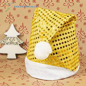 Новорічна шапка Діда Мороза, новорічний ковпак ОО-75