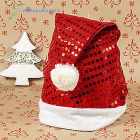 Новорічна шапка Діда Мороза, новорічний ковпак ОО-77