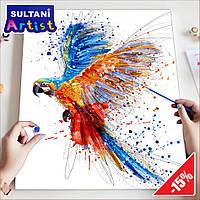 """Картина по номерам """"Летящий попугай"""", 40x50 см, в коробке, арт. X2007"""