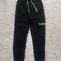 Теплые спортивные штаны с начесом для мальчика 158,164 см