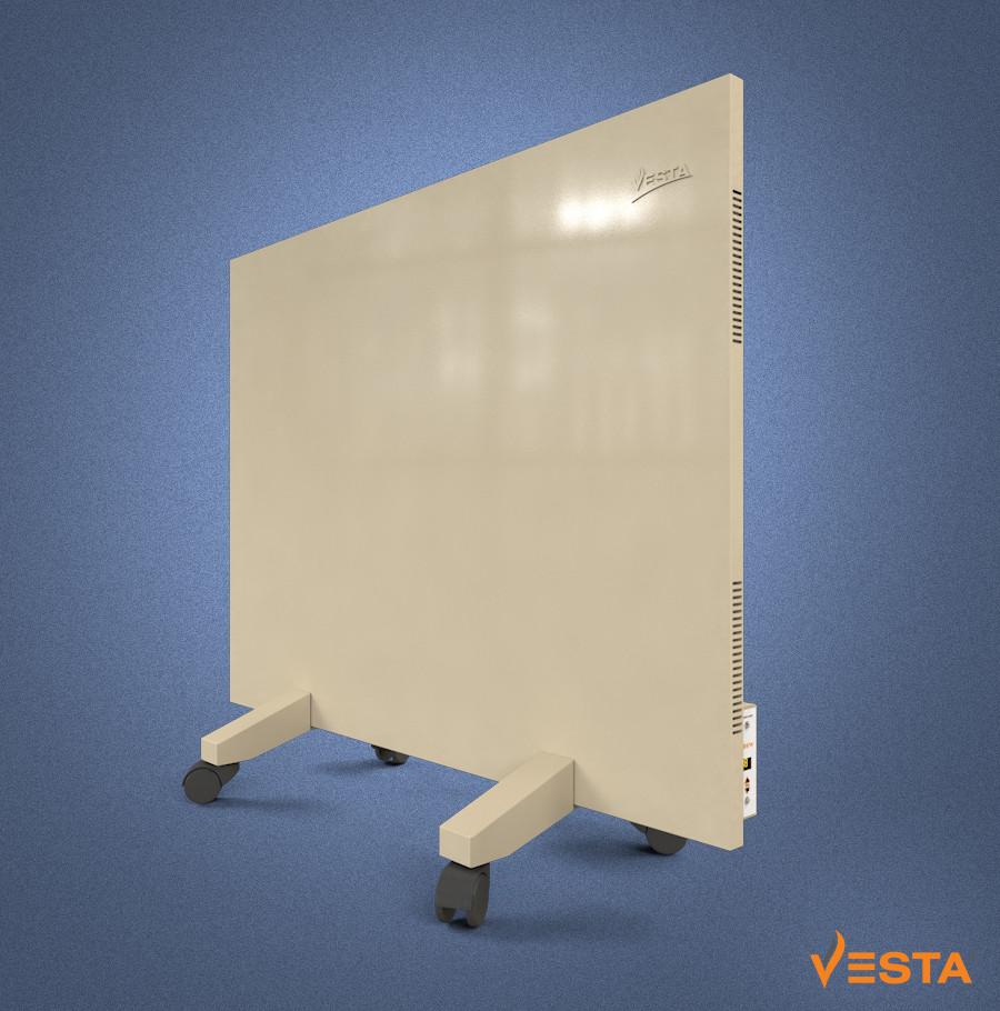 Металлический обогреватель инфракрасный VESTA 800 Вт с терморегулятором и ножками желтый