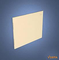 Металлический обогреватель инфракрасный VESTA 800 Вт с терморегулятором и ножками желтый, фото 3
