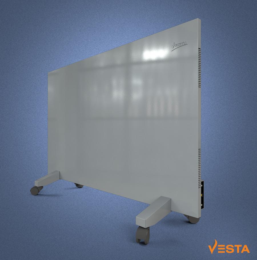 Металлический обогреватель инфракрасный VESTA 1000 Вт с терморегулятором и ножками серый