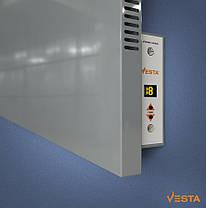 Металлический обогреватель инфракрасный VESTA 1000 Вт с терморегулятором и ножками серый, фото 3