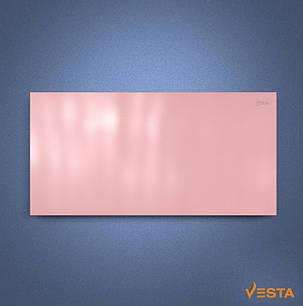 Металлический обогреватель инфракрасный VESTA 1200 Вт с терморегулятором и ножками розовый, фото 2