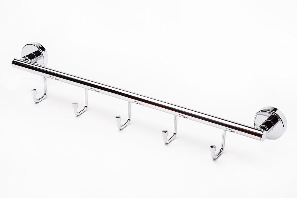 Держатель для полотенец с 5 крючками серия 100% нержавеющая сталь