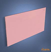 Металлический обогреватель инфракрасный VESTA 1200 Вт с терморегулятором и ножками розовый, фото 3