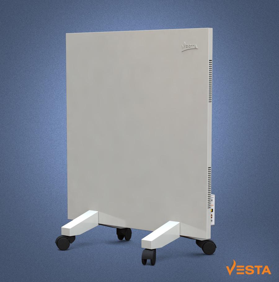 Металлический обогреватель инфракрасный VESTA 500 Вт с терморегулятором и ножками белый