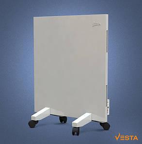 Металлический обогреватель инфракрасный VESTA 500 Вт с терморегулятором и ножками белый, фото 2