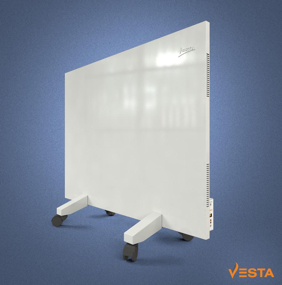Металлический обогреватель инфракрасный VESTA 800 Вт с терморегулятором и ножками белый
