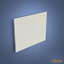 Металлический обогреватель инфракрасный VESTA 800 Вт с терморегулятором и ножками белый, фото 2