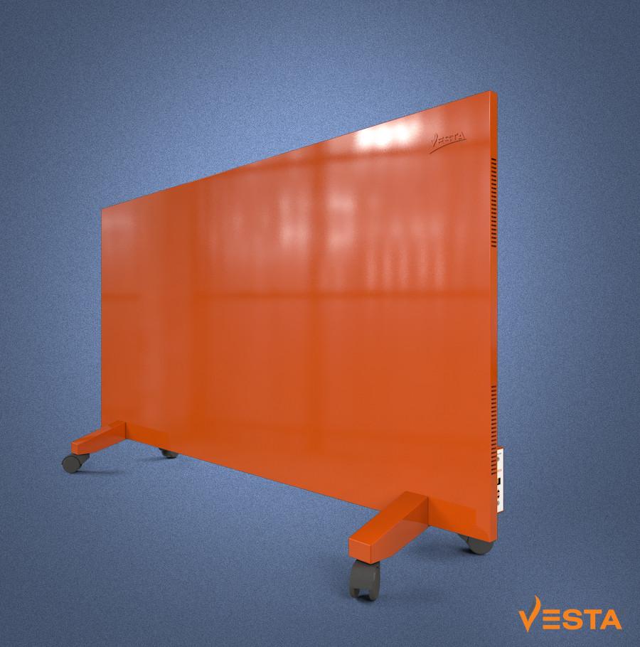 Металлический обогреватель инфракрасный VESTA 1200 Вт с терморегулятором и ножками красный