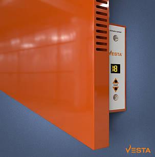 Металлический обогреватель инфракрасный VESTA 1200 Вт с терморегулятором и ножками красный, фото 2