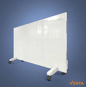 Металлический обогреватель инфракрасный VESTA 1200 Вт с терморегулятором и ножками белый, фото 2