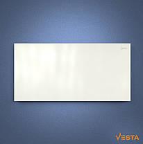 Металлический обогреватель инфракрасный VESTA 1200 Вт с терморегулятором и ножками белый, фото 3