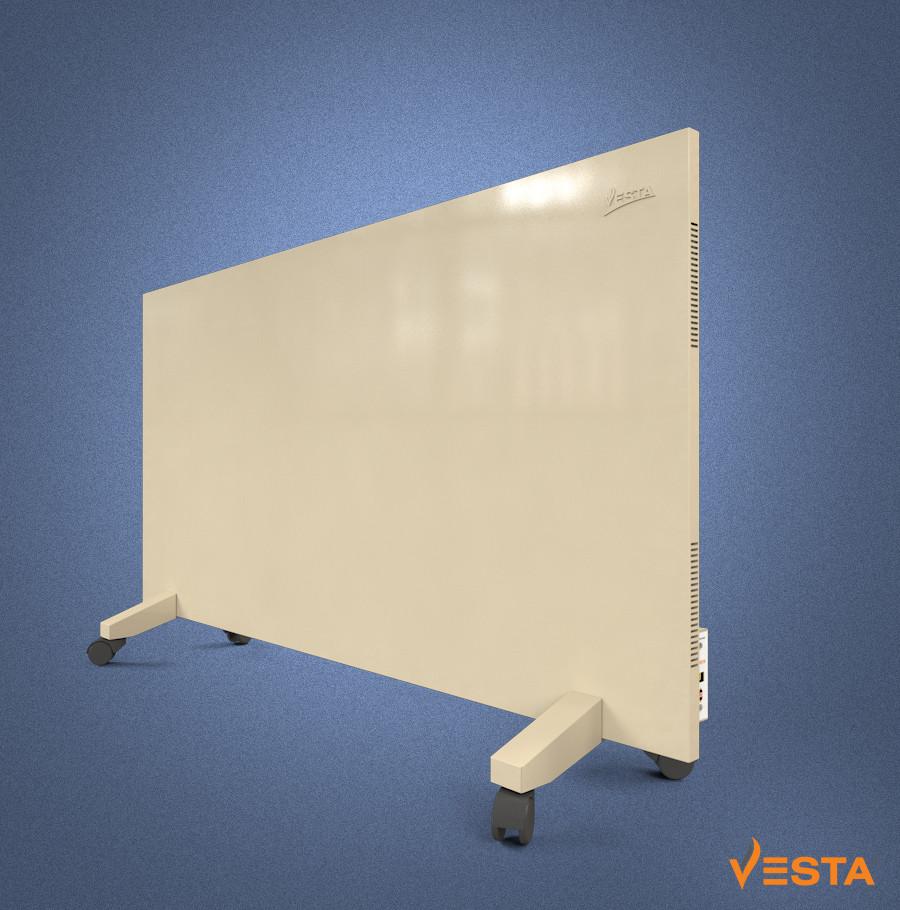 Металлический обогреватель инфракрасный VESTA 1000 Вт с терморегулятором и ножками желтый