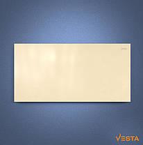 Металлический обогреватель инфракрасный VESTA 1000 Вт с терморегулятором и ножками желтый, фото 2