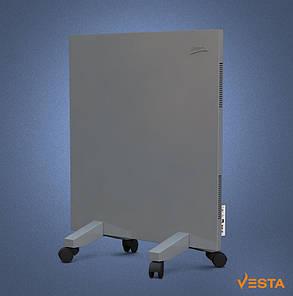 Металлический обогреватель инфракрасный VESTA 500 Вт с терморегулятором и ножками серый, фото 2