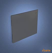 Металлический обогреватель инфракрасный VESTA 800 Вт с терморегулятором и ножками светло черный, фото 3