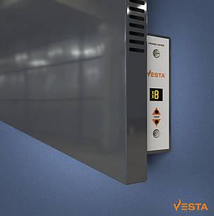 Металлический обогреватель инфракрасный VESTA 1000 Вт с терморегулятором и ножками светло черный, фото 2