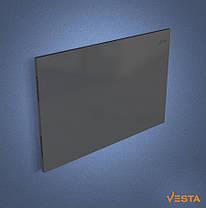 Металлический обогреватель инфракрасный VESTA 1000 Вт с терморегулятором и ножками светло черный, фото 3