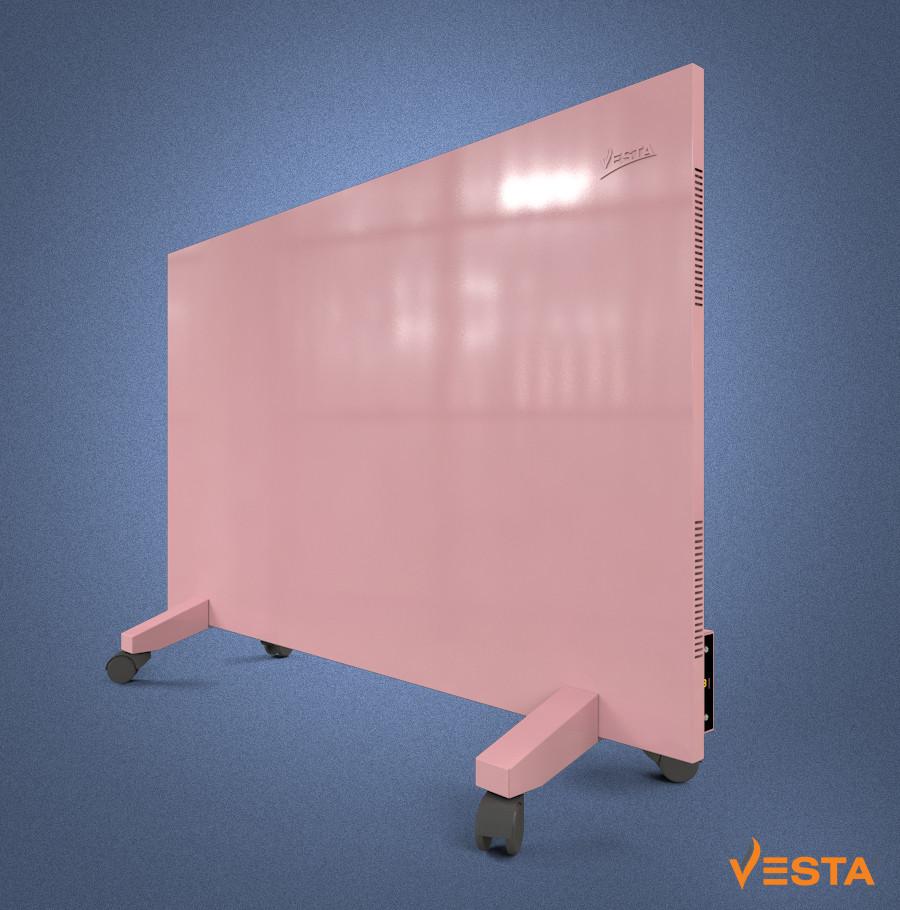 Металлический обогреватель инфракрасный VESTA 1000 Вт с терморегулятором и ножками розовый