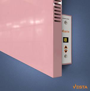 Металлический обогреватель инфракрасный VESTA 1000 Вт с терморегулятором и ножками розовый, фото 2
