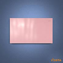 Металлический обогреватель инфракрасный VESTA 1000 Вт с терморегулятором и ножками розовый, фото 3