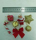 """Набор елочных украшений """"Санта с декором"""" - 7 предметов, фото 2"""