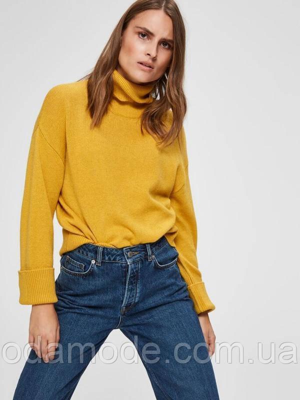Женский желтый свитер Selected