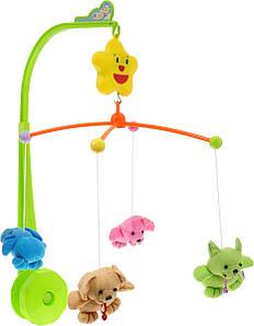 Мобиль на детскую кровать с мягкими игрушками Sweet Cuddles | Музыкальная карусель на кроватку