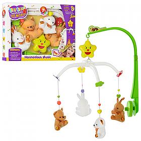 Мобиль на детскую кровать с игрушками Sweet Cuddles | Музыкальная карусель на кроватку