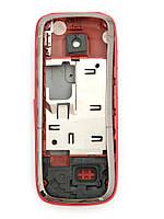 Корпус для Nokia 5130 Xpress Music, High Copy, Черный с красной средней частью /панель/крышка/накладка /нокиа