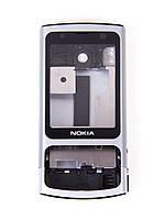 Корпус для Nokia 6700 slide, High Copy, серебристый /панель/крышка/накладка /нокиа