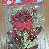"""Новогоднее украшение -подвеска """"Колокольчики"""" Merry Christmas 15 cм х 11,5 см, фото 4"""
