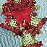 """Новогоднее украшение -подвеска """"Колокольчики"""" Merry Christmas 15 cм х 11,5 см, фото 3"""