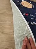 """Безкоштовна доставка! Килимок в дитячу """"Love you"""" утеплений мат (1.5*2 м), фото 5"""