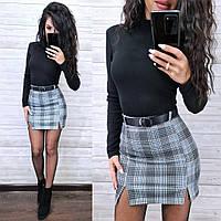 Женская стильная юбка с поясом