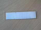 Наклейка s надпись Mitsubishi 100х20х1мм красная силиконовая Уценка на авто эмблема Мицубиси Митсубиши, фото 2