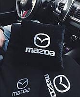 """Автомобильный плед и подушка с вышивкой логотипа """"MAZDA"""", фото 2"""