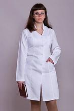 Белый медицинский халат для женщин из габардина 40-60