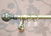 Карниз одинарный метал. 19 мм, Гоа, антик