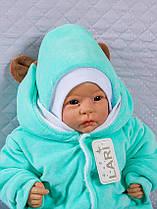 Зимний комплект на выписку для новорожденного набор Панда мятный, фото 2